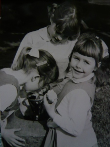 At the bubbler with my older sister and our next-door neighbour in 1963